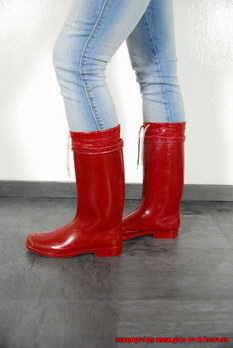 We present rubber boots